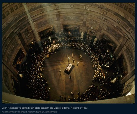JFK lying in state at the Capitol